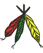 Colored Feathers embroidery design