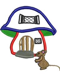 Mouse House embroidery design