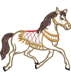Prancing Horse embroidery design