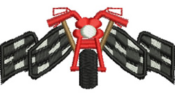 Motorbike Racing embroidery design