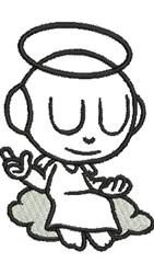 Cartoon Angel embroidery design