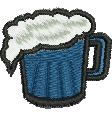 Pint of Beer embroidery design