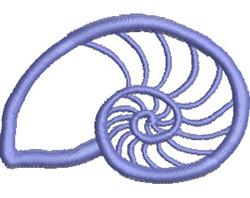 Nautilus Applique embroidery design