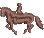Equestrian Silhouette embroidery design
