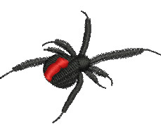 Redback Spider embroidery design