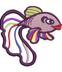 Rainbow Fish embroidery design