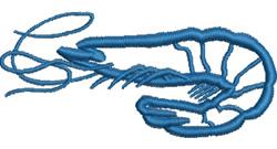 Prawn Applique embroidery design