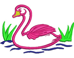 Swan Applique embroidery design