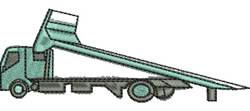 Tilt Tray Truck embroidery design