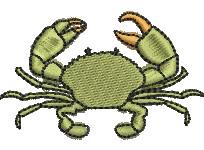 Mud Crab embroidery design