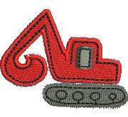 Mini Excavator embroidery design