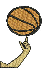 Spinning Basketball embroidery design