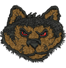 Red Eyed Wolf embroidery design