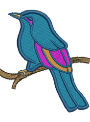 Flycatcher embroidery design