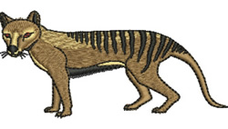 Tasmanian Tiger embroidery design
