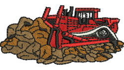 Construction Site embroidery design