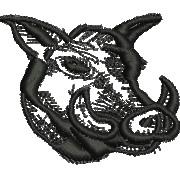 Boars Head embroidery design