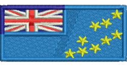Tuvalu Flag embroidery design