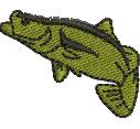Barramundi embroidery design