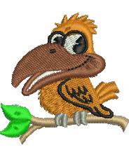 Bird Cartoon embroidery design