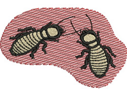 Termites embroidery design