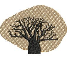 Boab Tree embroidery design