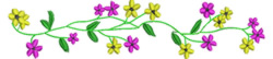 Wild Flowers embroidery design
