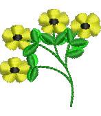 Daisy Sprig embroidery design