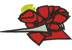 Fighting Knight embroidery design