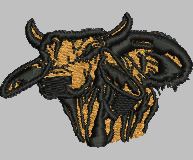 Brahman Bull embroidery design
