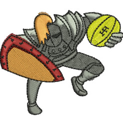 Football Knight embroidery design