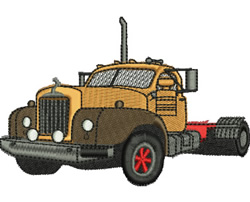 Mack Truck embroidery design