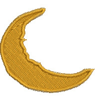 Half Moon embroidery design