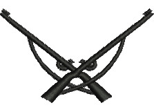 Crossed Rifles embroidery design