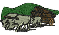 Bullock Team embroidery design