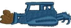 Bulldozer embroidery design