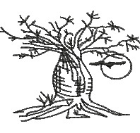 Boab Tree embroidery design