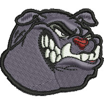Bulldog embroidery design