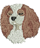 Cavalier Spaniel embroidery design