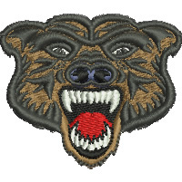 Angry Bear embroidery design
