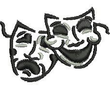Theatre Masks embroidery design