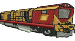 Freight Train embroidery design