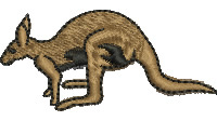 Wallaby embroidery design