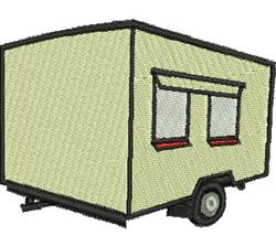 Camper Trailer embroidery design