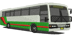 Passenger Bus embroidery design