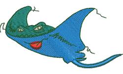 Cartoon Stingray embroidery design
