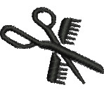 Hairstylists Tools embroidery design