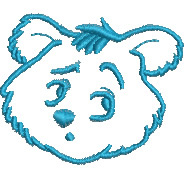Pensive Bear embroidery design