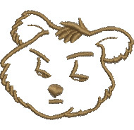 Annoyed Bear embroidery design