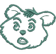 Shocked Bear embroidery design